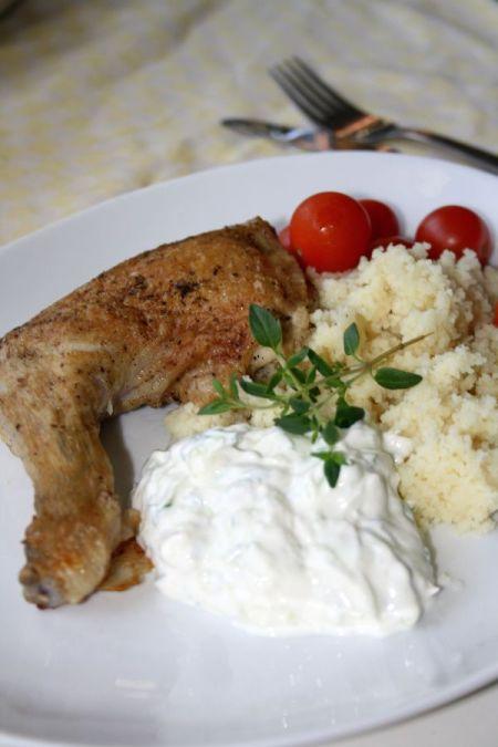 Kyckling, couscous och tzatsiki