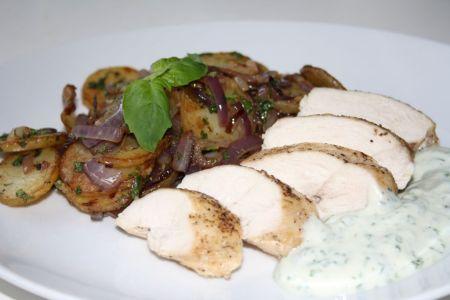 Kyckling med råstekt potatis1
